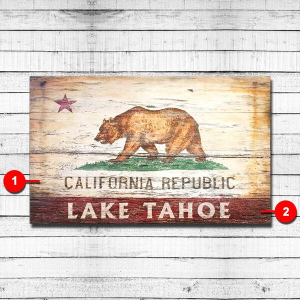 California Republic Personalized Vintage Sign