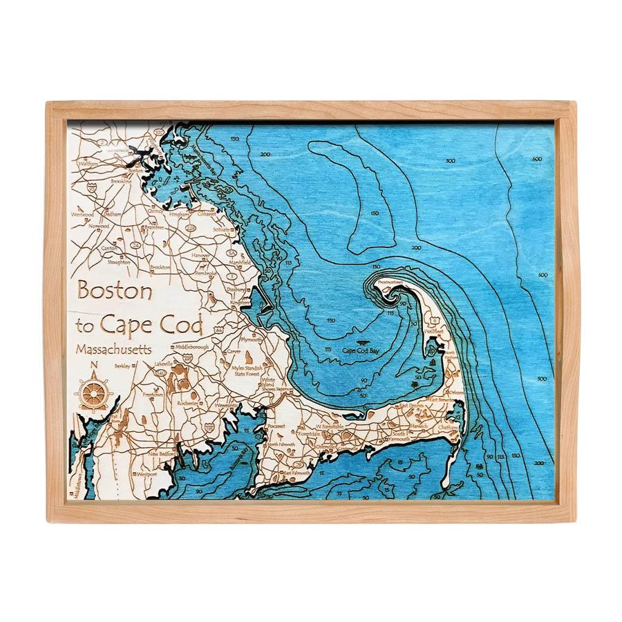 Boston and Cape Cod serving tray