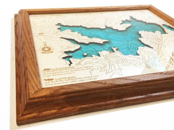 Lake arrowhead ca single depth nautical wood chart 8 x 10 publicscrutiny Gallery