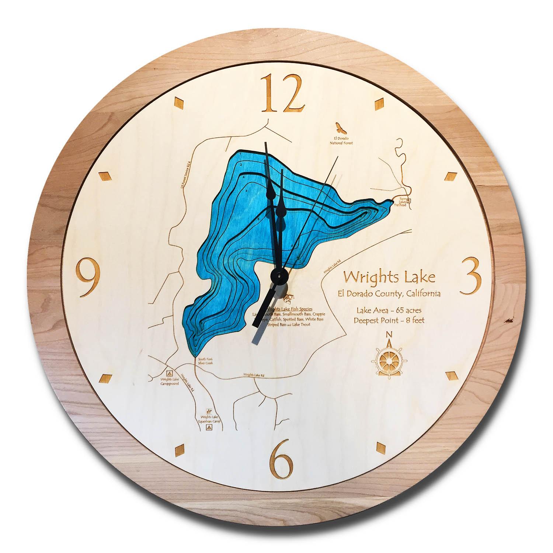 Wrights Lake Wood Clock
