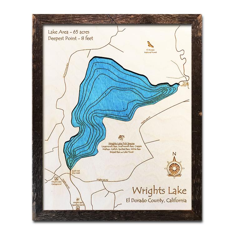 Wrights Lake Wood Map