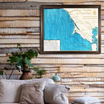 Bodega Bay 3d wood map