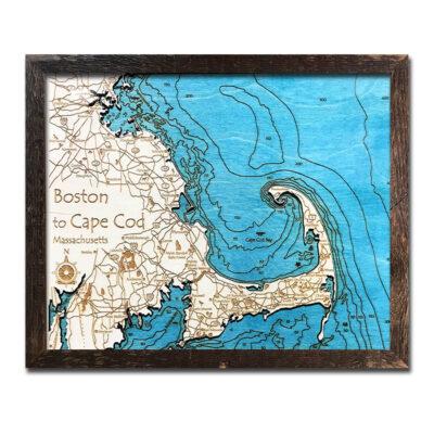 cape cod wood chart topographic