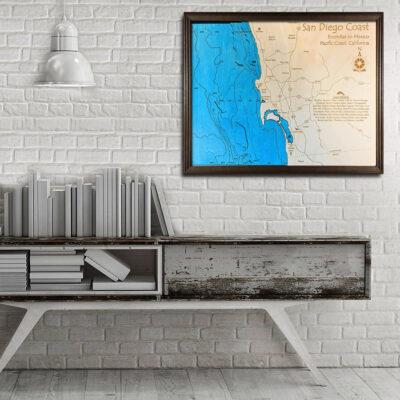 San Diego 3d wood map