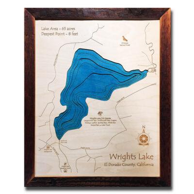 Wrights Lake3d wood map