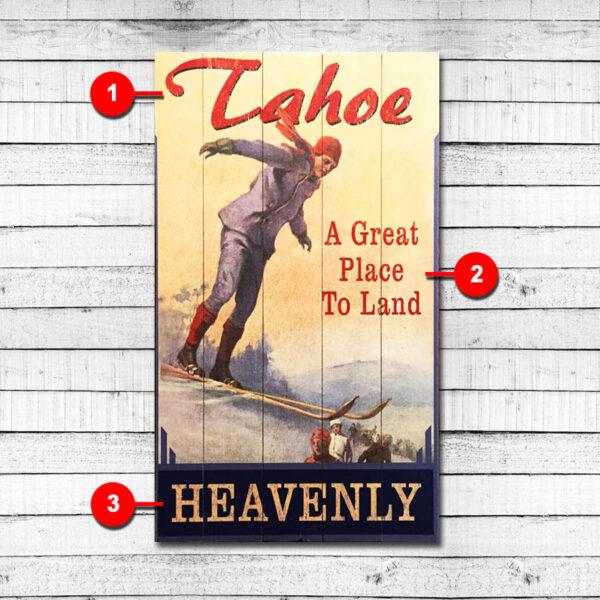 Heavenly Mountain Vintage Ski Sign