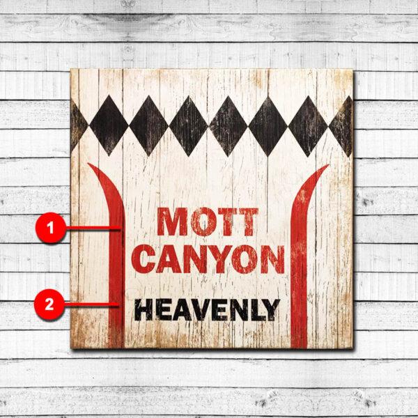 Ski Heavenly Vintage Sign