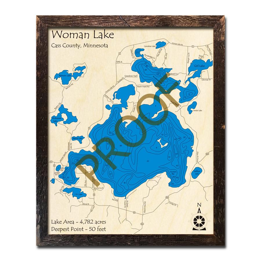 Woman Lake Wood Map