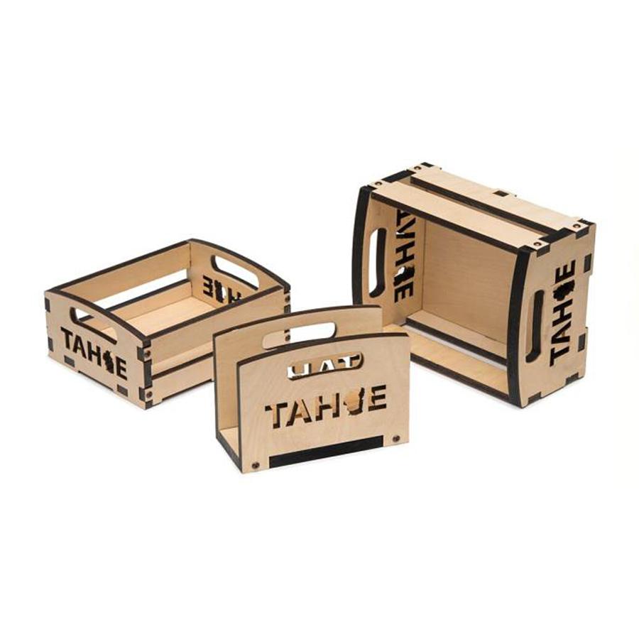 Lake Tahoe nested wood box gift set