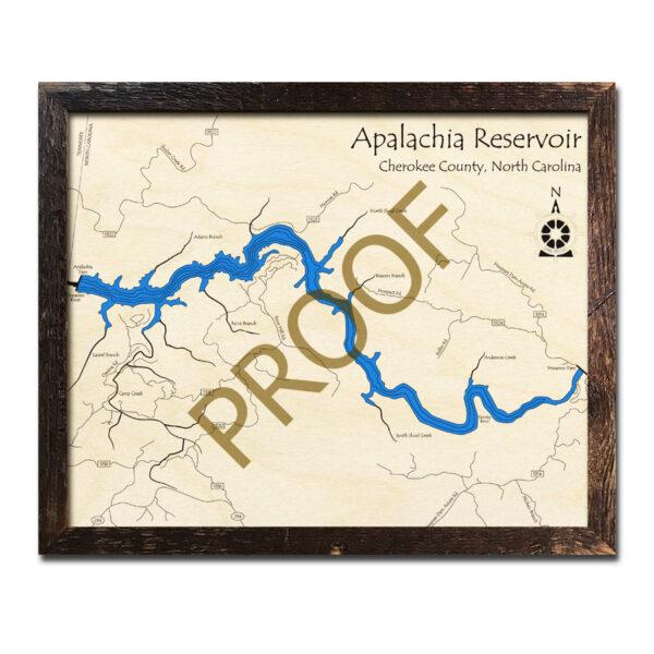 Apalachia Reservoir Wood Map