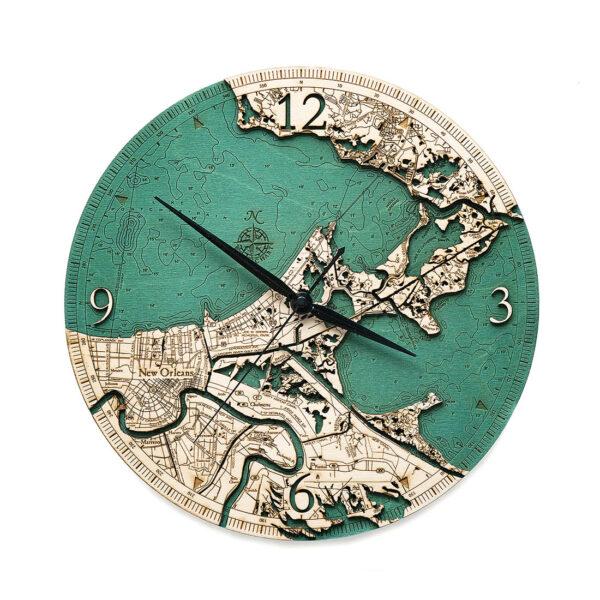New Orleans Wood Clock
