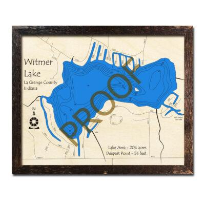 Witmer Lake 3D wood map