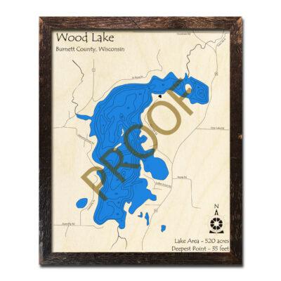 Wood Lake 3d wood map