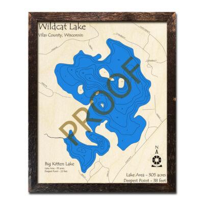 Wildcat Lake 3d wood map
