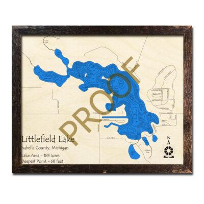 Littlefield Lake 3d wood map