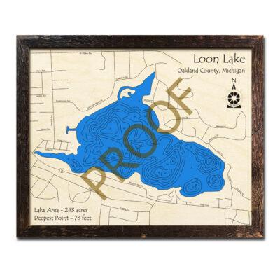 Loon Lake Wood Map Oakland County MI