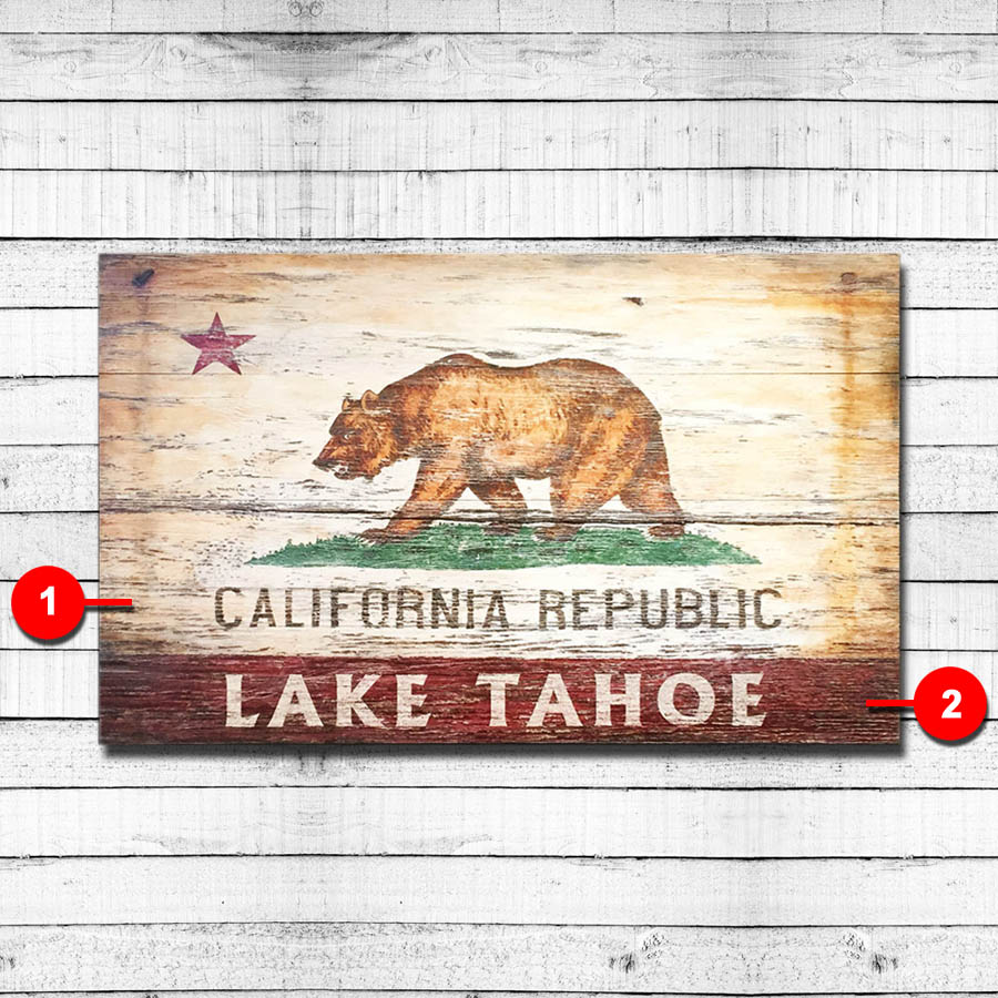 California Republic Personalized Vintage Sign