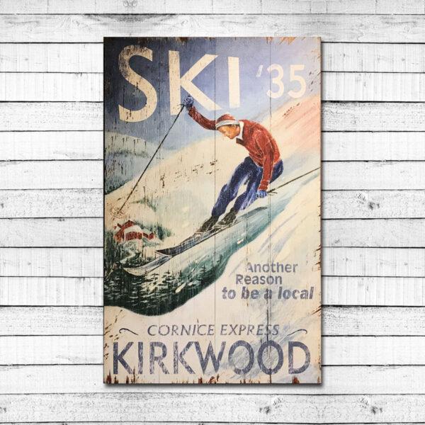 Kirkwood Resort Vintage Ski Sign