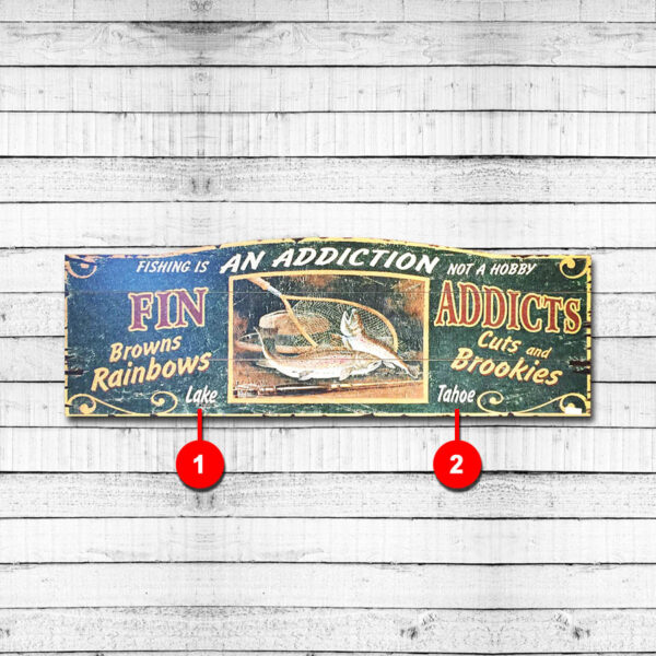 Fishing Personalized Cabin Sign