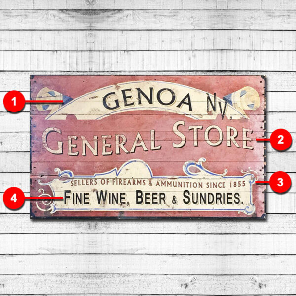 General Store Personalized Vintage Sign