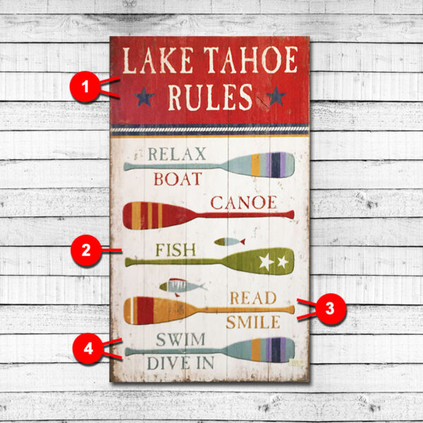 Personalized Lake Sign Lake Rules