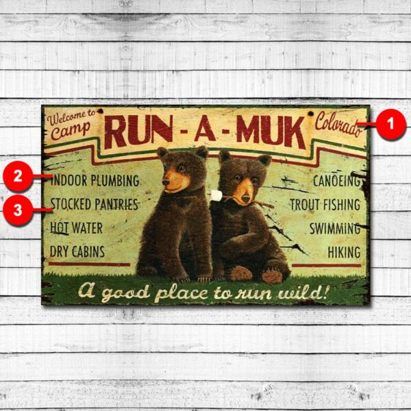 Run a Muk Personalized Retro Sign