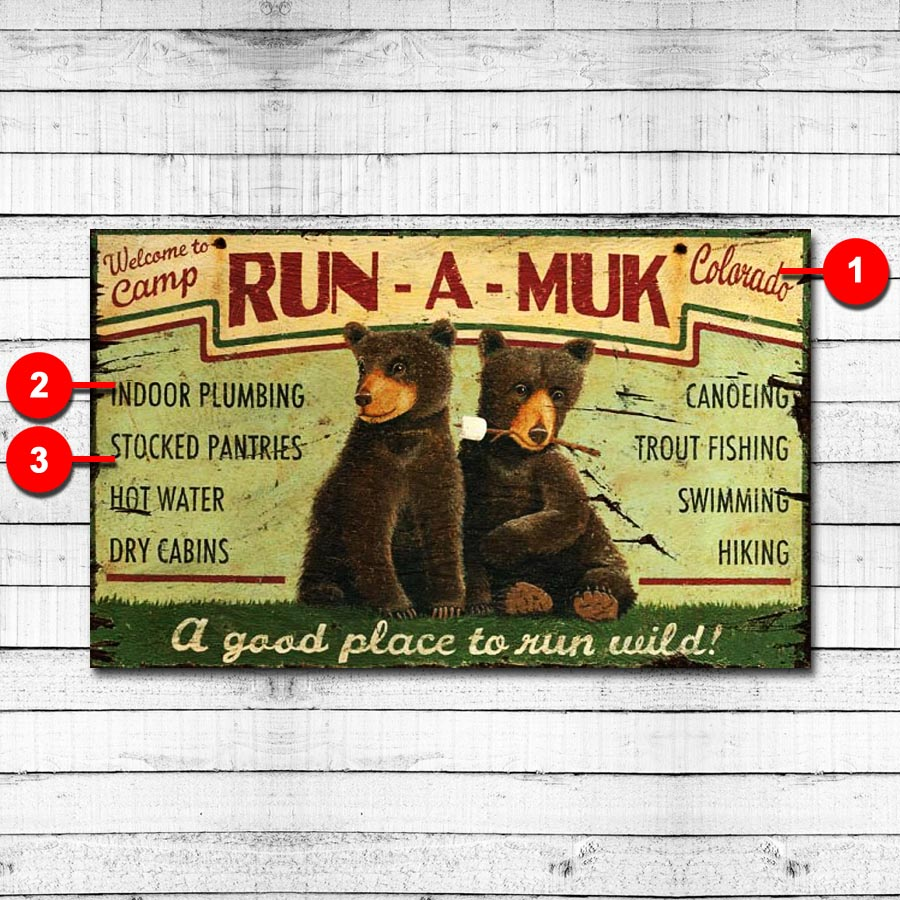 Run a Muk Personalized Retro Sign