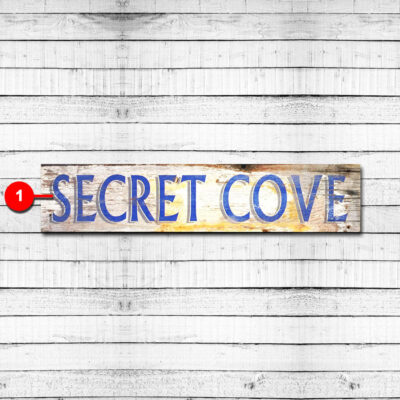 Personalized Lake Sign Secret Cove Tahoe