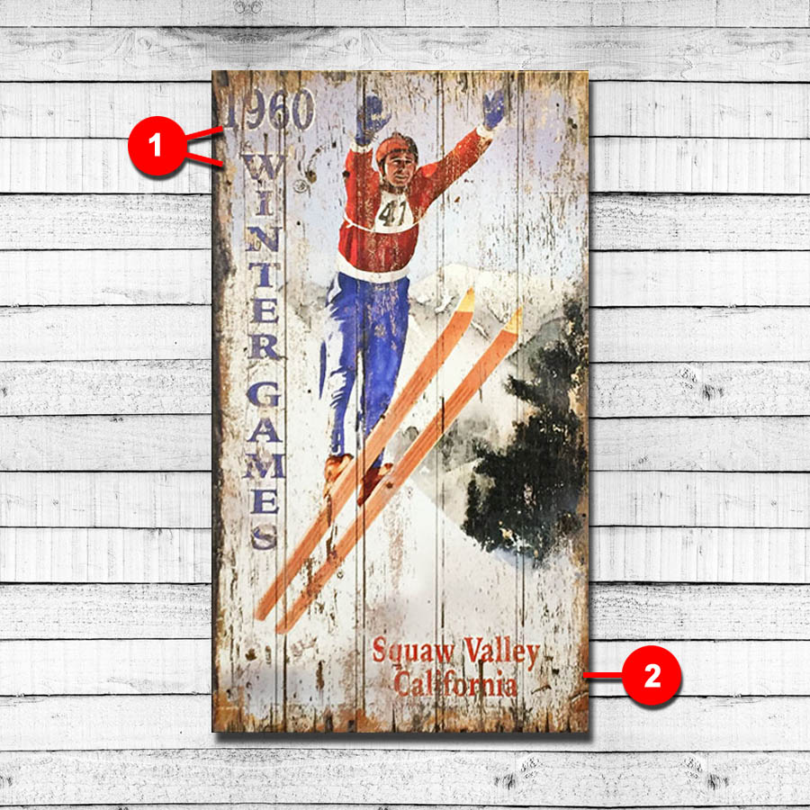 Ski Jumping Personalized Ski Sign