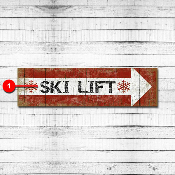 Ski Lift Personalized Ski Resort Sign