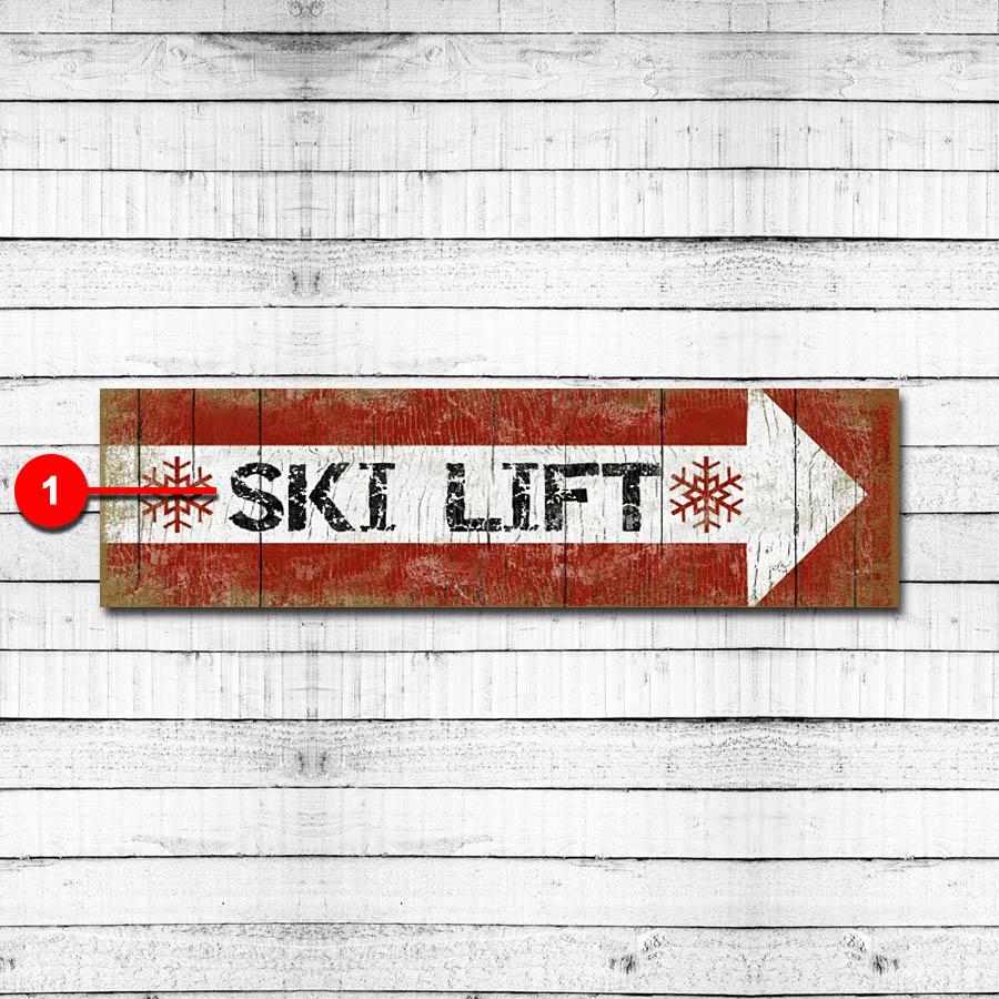 Ski Lift Personalized Ski Resort Sign