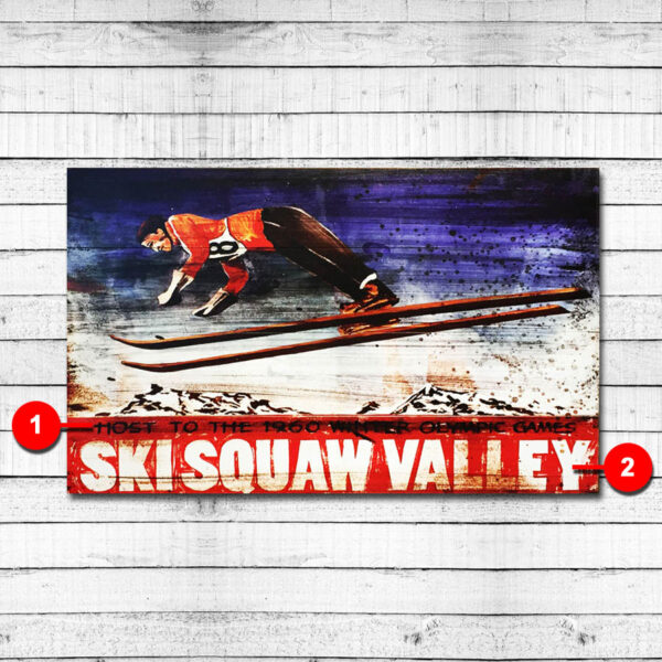 Squaw Valley Personalized Ski Sign