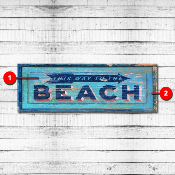 This Way to the Beach Personalized Cabin Sign
