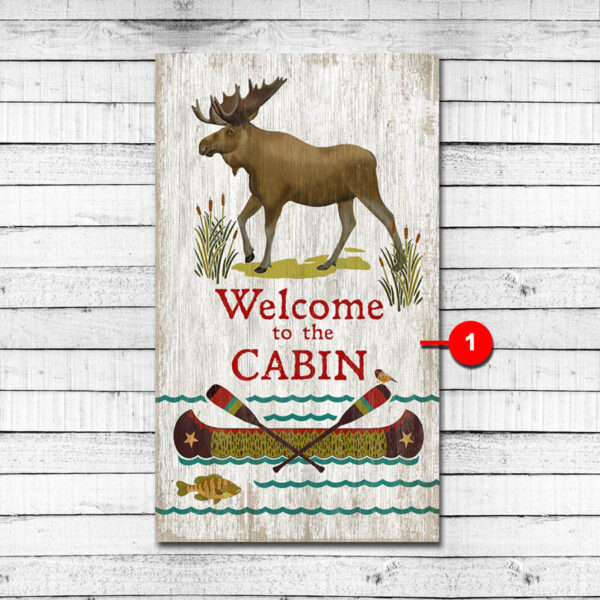 Welcome to the Cabin Personalized Custom Sign