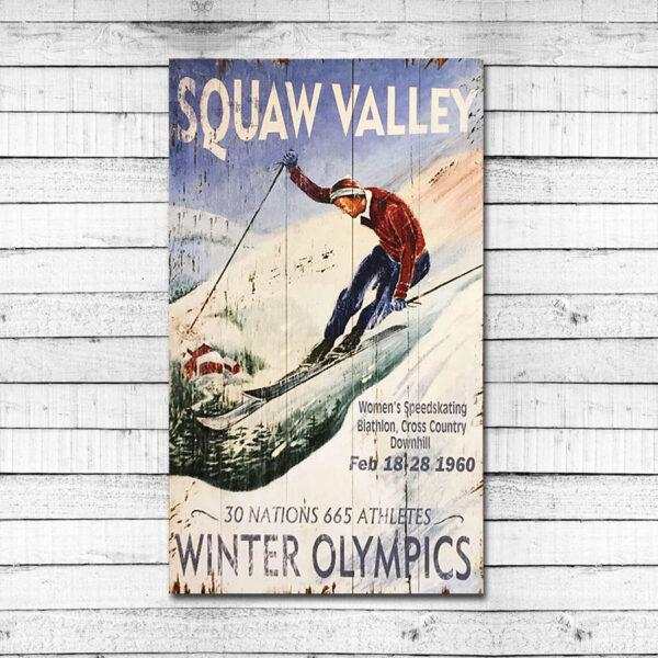 Vintage Squaw Valley Ski Sign