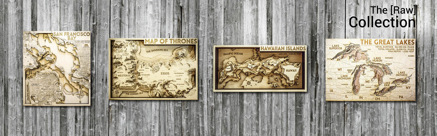 3D wood map, the great lakes, chesapeake bay, nautical decor for beach house