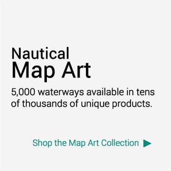 Nautical Wood Maps