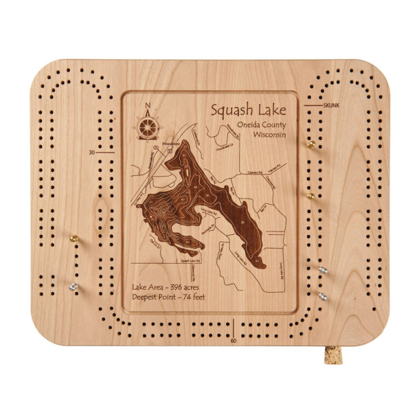 Los Angeles Wood Cribbage Board