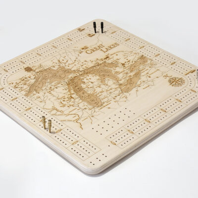 great lakes wood cribbage board