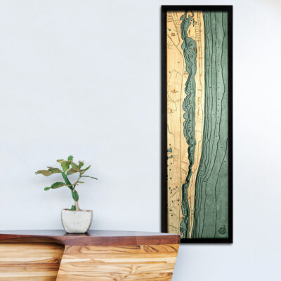Jupiter Island wood map, Jupiter Island 3d poster