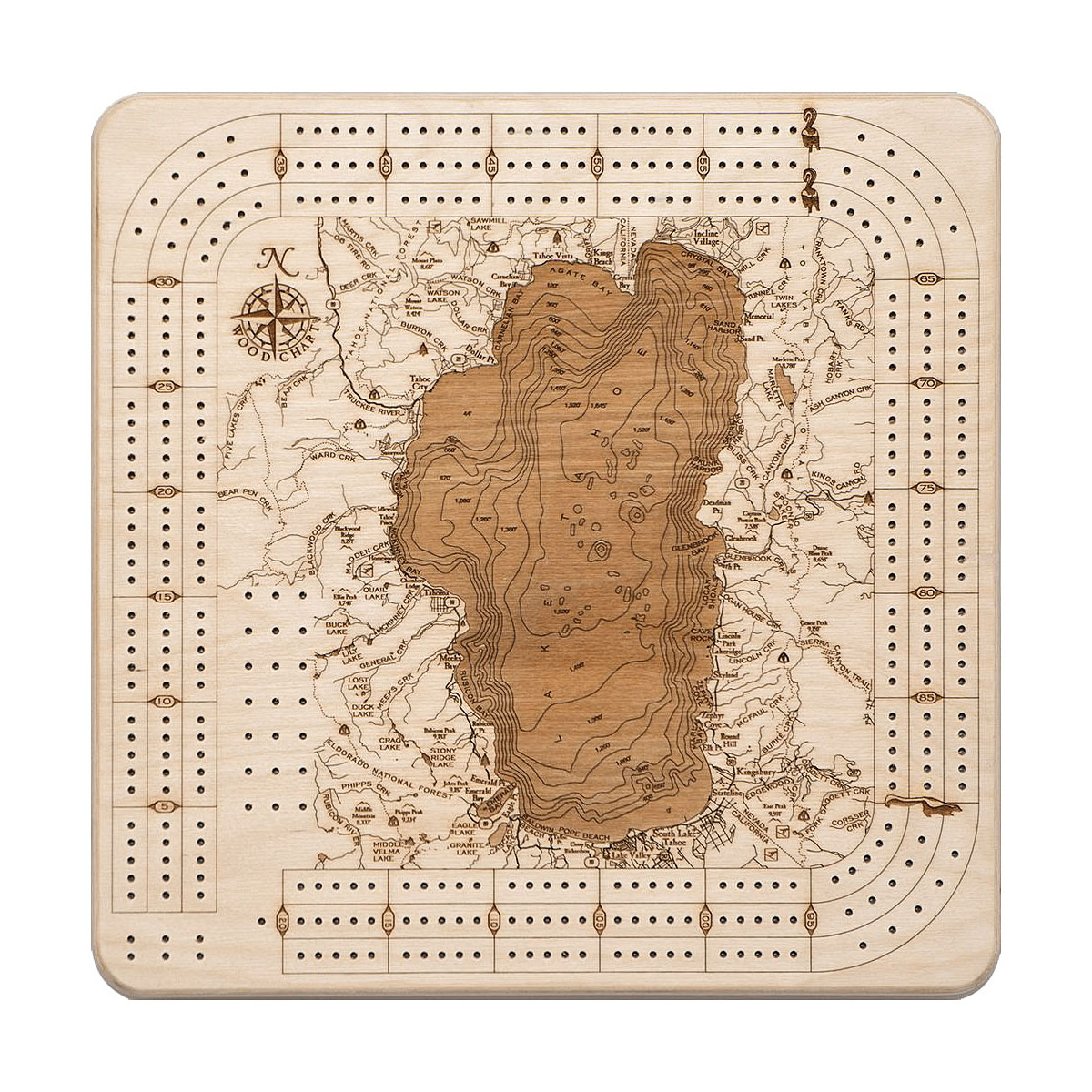 Lake Tahoe Cribbage Board