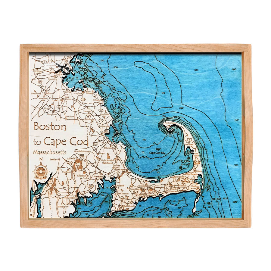 Boston and Cape Cod serving tray