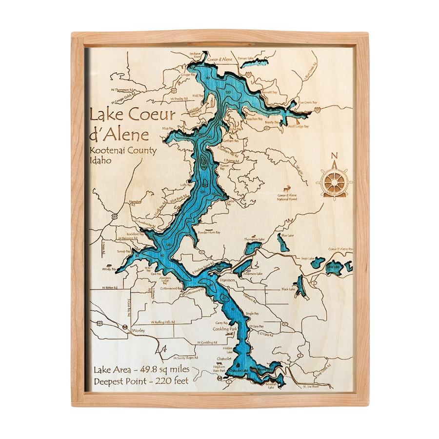 Lake Coeur d'Alene, ID Nautical Wood Serving Tray on lookout pass idaho map, old idaho map, dalton gardens idaho map, south fork snake river idaho map, fernan idaho map, colville idaho map, ketchum idaho map, blackfoot idaho map, idaho idaho map, panther creek idaho map, cougar gulch idaho map, trail of the coeur d'alenes map, lemhi pass idaho map, lewiston idaho map, nez perce county idaho map, greenville idaho map, north idaho map, springfield idaho map, givens hot springs idaho map, cordelaine idaho map,