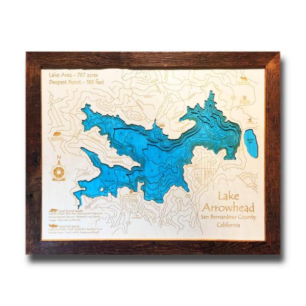 Lake Arrowhead Wood Map