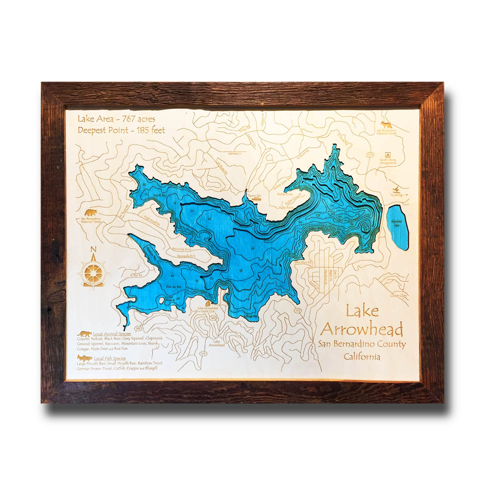 Lake Arrowhead Wood Map