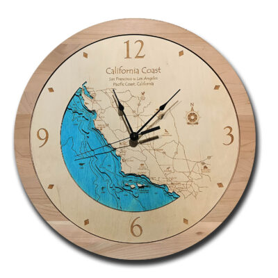 California Coast Wood Clock