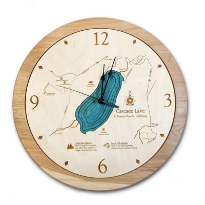 Cascade Lake Wood Clock