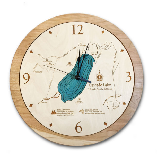 Cascade Lake Wood Clock