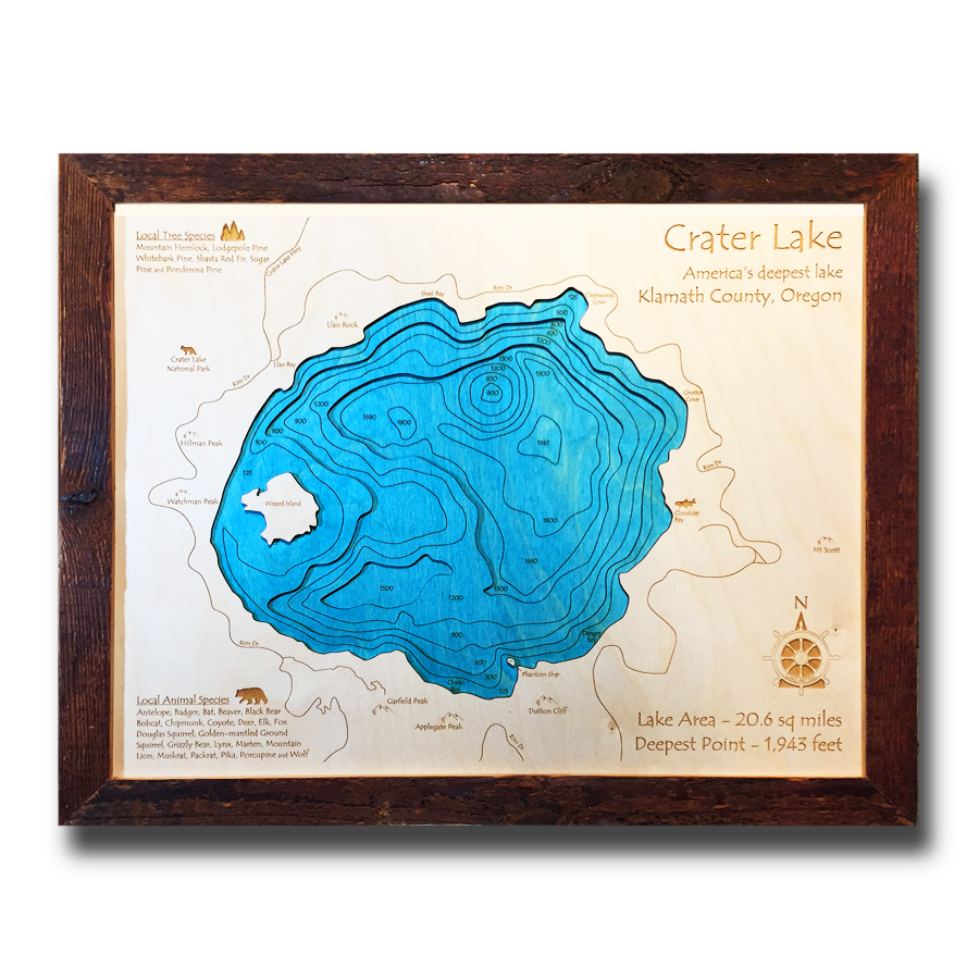 Crater Lake Nautical Map