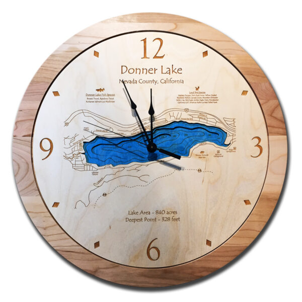 Donner Lake Wood Clock